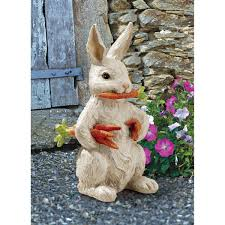 Bunny Rabbit Home Decor Amazon Com Design Toscano Carotene Rabbit Statue Outdoor