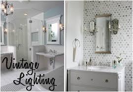 Antique Bathroom Light - amazing of vintage bathroom lighting ideas apartments awesome
