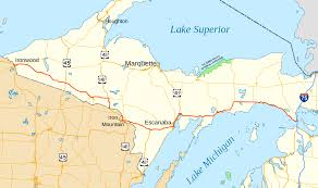 Wisconsin State Map by U S Route 2 In Michigan Wikipedia