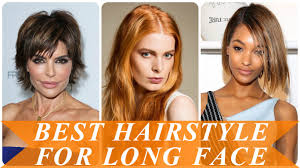best hairstyle for long face youtube