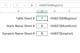 how to use excel sheet and sheets functions