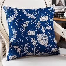 cushions home decor for sofa pillowcase throw pillows blue cojines