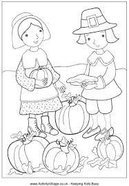 thanksgiving colouring page activityvillage coloriages