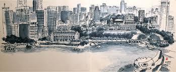asean 50 panoramic sketch