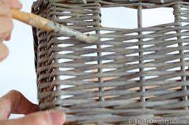 Can You Paint Wicker Chairs How To Create An Aged Driftwood Finish On Baskets In My Own Style