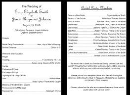formal wedding program wording 37 printable wedding program exles templates template lab