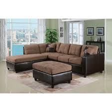 milano reversible sectional sofa in chocolate easy rider and