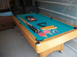 Ping Pong Pool Table Wood Pool Table Ping Pong Table Table Needs Repair 46in X 7ft