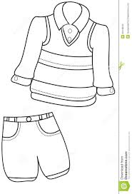 boy u0027s clothing coloring page stock illustration image 50448545
