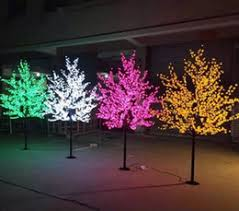 lighted artificial trees artificial lighted trees for