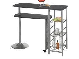 table bar cuisine conforama table haute de bar josua mdf décor noir vente de table conforama
