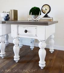 chalk paint farmhouse table white farmhouse tables with weathered wood tops a ray of sunlight
