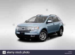 Ford Edge 2006 2008 Ford Edge Sel In Blue Front Angle View Stock Photo Royalty