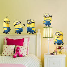 Minions Despicable Me  Removable Kids Decor Art Decals DIY Wall - Kids rooms decals