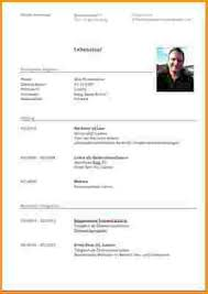 Lebenslauf Vorlage Doc 4 Lebenslauf Doc Reimbursement Format