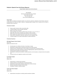 Best Nursing Resume Samples by Pediatric Nurse Resume Berathen Com