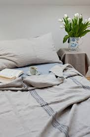 linen bed cover grainsackrustic heavy linen bedding linen