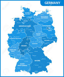 map of germany with states and capitals the detailed map of the germany with regions or states and cities