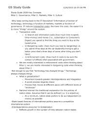 gs study guide globalization governance