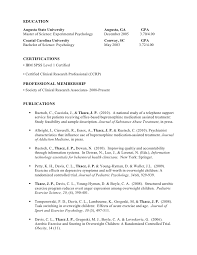 Psychology Resume Examples by Detailed Resume Example