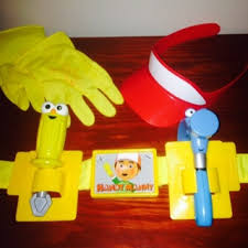 free handy manny tool belt hat gloves toys