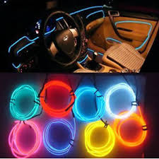 Auto Led Light Strips Car Interior Decor 12v Red Led Lamp Wire Luminescent Tube Ambient