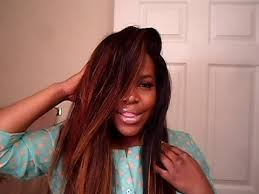 no part weave hairstyles reved no part flip over method video wig hair coloring and