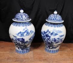 Chinese Vases Uk Blue White Chinese Pottery Ginger Jar Urns Vases Nanking