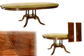 leighton dining room set traditional american made round to oval mahogany pedestal table