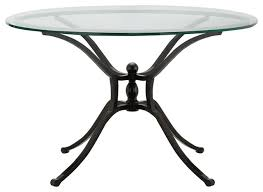 36 round glass table top iron wood