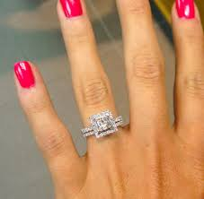 Square Wedding Rings by Princess Cut With Square Halo And Thin Diamond Bands Ahh I Love