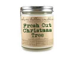 fresh cut christmas tree holiday scented candle christmas