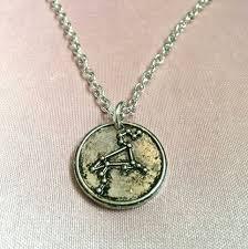 wax seal jewelry leo constellation necklace zodiac necklace sign jewelry