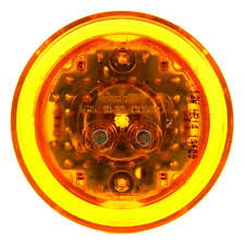 truck lite marker lights 10 series high profile led yellow round 8 diode marker