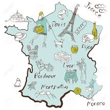 France Region Map by Stylized Map Of France Things That Different Regions In France