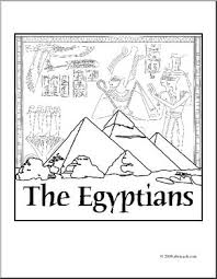 clip art ancient civilizations egyptians coloring