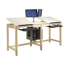 Cad Drafting Table Two Station Cad Drawing Table Diversified Woodcrafts Schoolsin