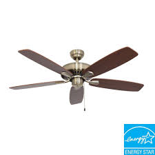 energy star ceiling fans with lights sahara fans charleston 52 in aged brass energy star ceiling fan