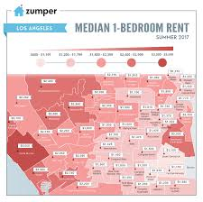 Map Of Los Angeles Cities by La Rental Map Where Prices Are Highest And Lowest Around The Area
