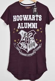 harry potter alumni shirt primark hogwarts alumni harry potter pj nightie burgundy sizes 4