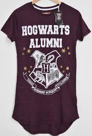 hogwarts alumni tshirt primark hogwarts alumni harry potter pj nightie burgundy sizes 4