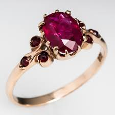 non diamond engagement rings circa 1900 ruby engagement ring w garnet accents 14k gold