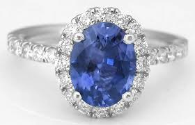 coloured sapphire rings images Rare color change sapphire and diamond halo ring in 14k from jpg