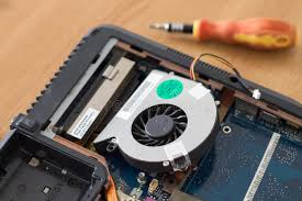 how to clean laptop fan laptop fan and heatsink cleaned stock photo image of repair tech
