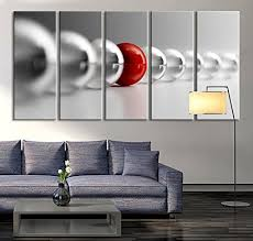 Oversized Wall Art by Amazon Com Tanda Large Wall Art Red Ball In Gray Balls Large Wall