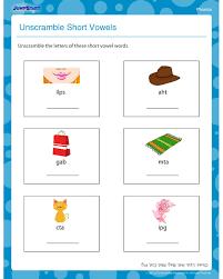 unscramble short vowels u2013 free phonics worksheet for kindergarten