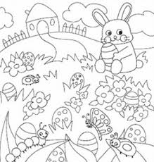 free easter printables coloring pages decorations