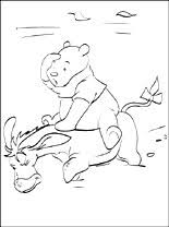 winnie pooh friends drawing coloring pages