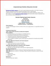 Best Resume Format For Engineering Students Awesome A Good Cv Format For Freshers Job Latter