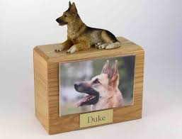 pet cremation urns figurine atop wood pet cremation urn with 3 5 x 5 photo holder
